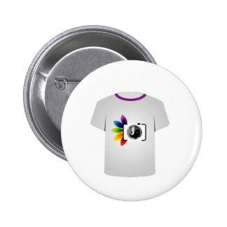 Cámara digital de la plantilla de la camiseta pins