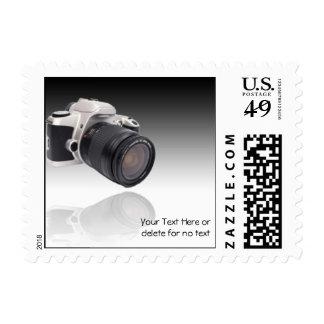 Cámara en fondo negro de la pendiente timbre postal