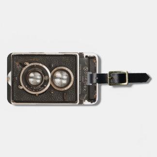 Cámara gemela de la lente de Rolleiflex del Etiquetas Maletas