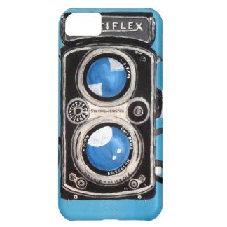 Cámara gemela de la lente del vintage funda para iPhone 5C