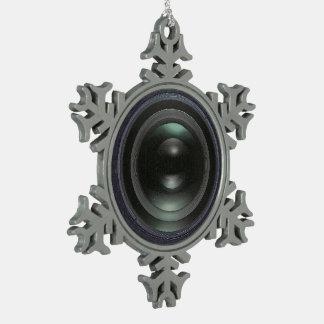 Cámara negra adorno de peltre en forma de copo de nieve