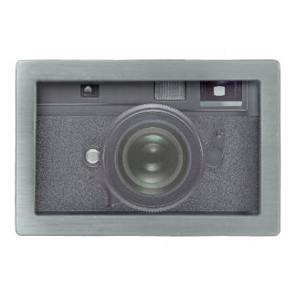 Cámara negra moderna hebillas de cinturón rectangulares