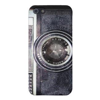 Cámara negra vieja iPhone 5 funda