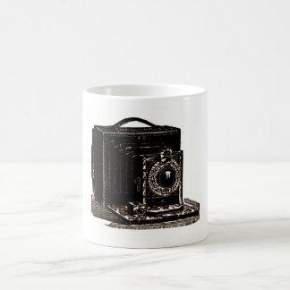 Cámara óptica de Poco de la fotografía antigua Taza De Café