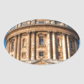 Cámara Oxford de Radcliffe Pegatina Ovalada