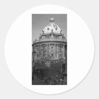 Cámara Oxford de Radcliffe Pegatina Redonda