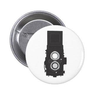 Cámara refleja de la Gemelo-Lente (TLR) Pin Redondo De 2 Pulgadas