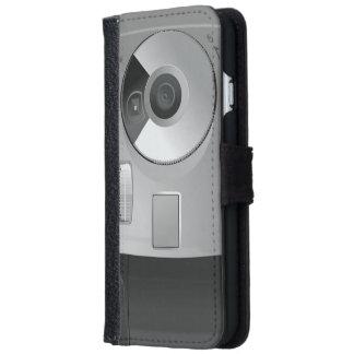 Cámara retra de la mano de Digitaces del bolsillo Funda Cartera Para iPhone 6