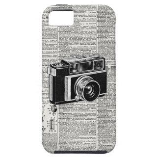 Cámara retra de la película del papel prensa iPhone 5 funda