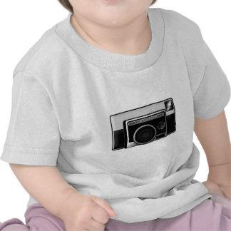 Cámara retra de la película camisetas