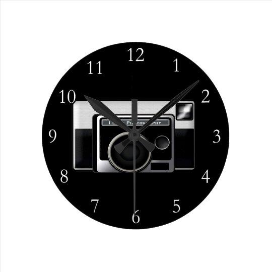 Cámara retra de la película reloj redondo mediano