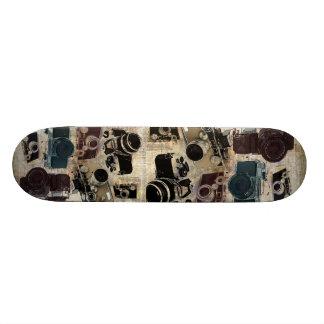 Cámara retra del Grunge de la moda del vintage Skate Boards