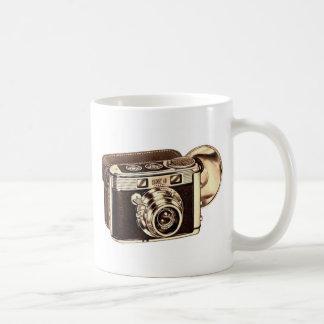 Cámara retra del kitsch 50s 35m m del vintage taza de café