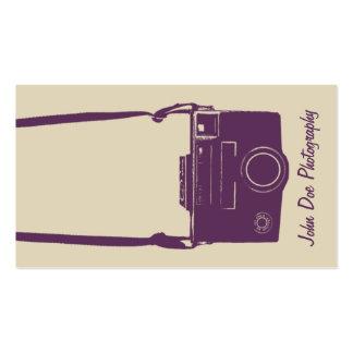 Cámara retra elegante de la película del beige y d tarjetas de visita