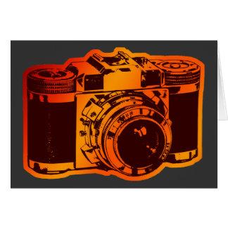 cámara retra tarjeta de felicitación