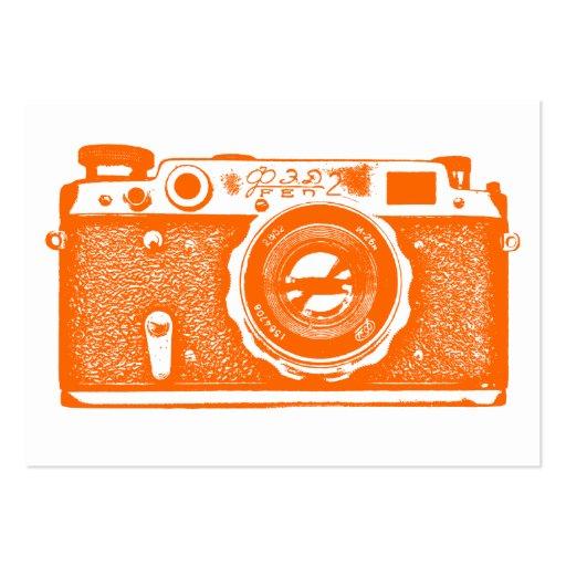 Cámara rusa - naranja en blanco plantillas de tarjetas de visita