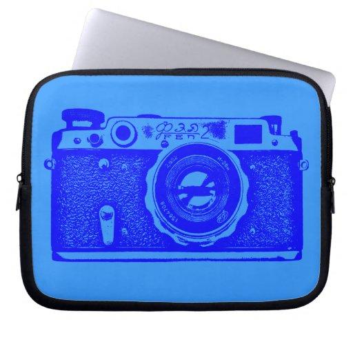 Cámara rusa - sombras del azul mangas portátiles