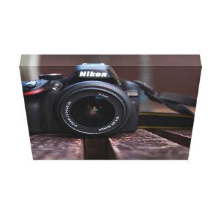 Cámara temática, una imagen de una cámara guardada impresión en lienzo estirada