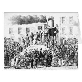 Cámara Vapor-Accionada 1871 Tarjeta De Felicitación Grande