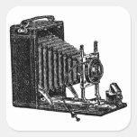 Cámara vieja de los bramidos - ejemplo del vintage colcomanias cuadradases
