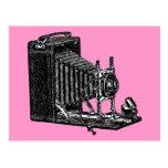 Cámara vieja de los bramidos - ejemplo del vintage tarjetas postales