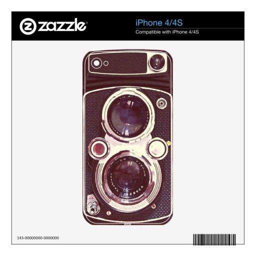 cámara vieja del vintage calcomanía para iPhone 4S
