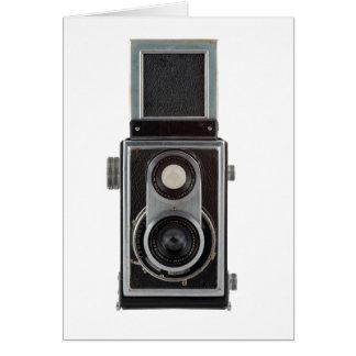 cámara vieja tarjeta de felicitación