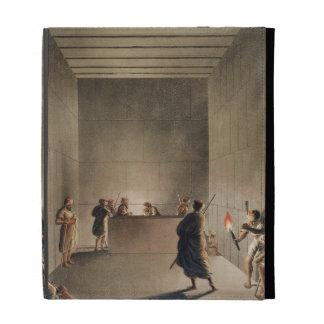 Cámara y sarcófago en la gran pirámide del soldado