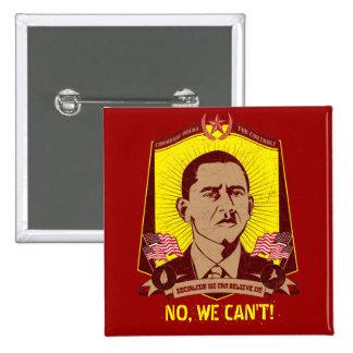 Camarada Obama Customizable Slogan Button Pin Cuadrado
