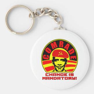 Camarada Obama Keychain Llavero Redondo Tipo Pin