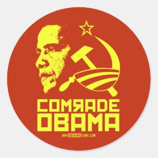 Camarada Obama Etiquetas Redondas