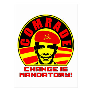 Camarada Obama Postcard Postales
