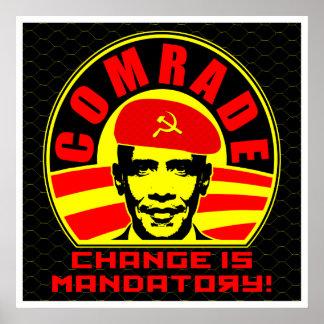 Camarada Obama Poster Póster