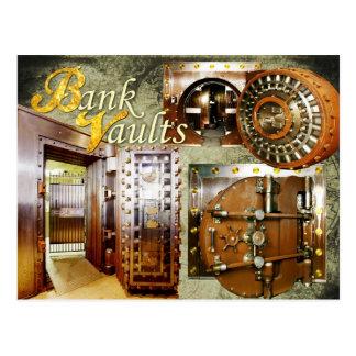 Cámaras acorazadas de banco viejas postal