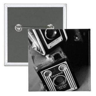 Cámaras de caja del vintage pin cuadrada 5 cm