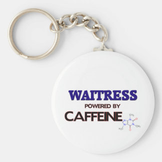 Camarera accionada por el cafeína llavero redondo tipo pin