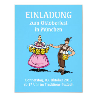 Camarera agradable de la cerveza de Oktoberfest de Invitaciones Personalizada