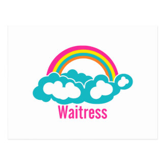 Camarera de la nube del arco iris tarjetas postales