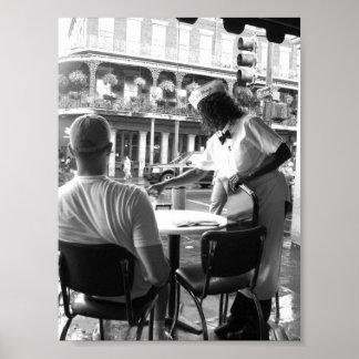 Camarera en Cafe' du Monde New Orleans, Luisiana Impresiones