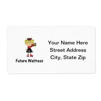 camarera futura etiqueta de envío