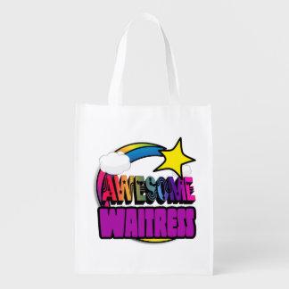 Camarera impresionante del arco iris de la bolsas de la compra