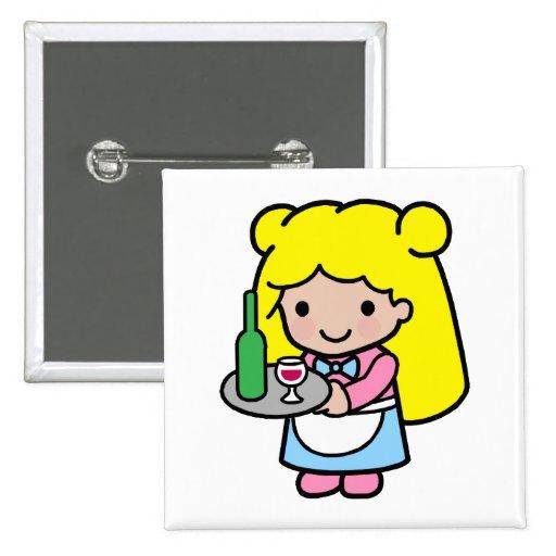Camarera Pin Cuadrada 5 Cm