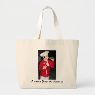 Camarero de la pizza bolsas de mano