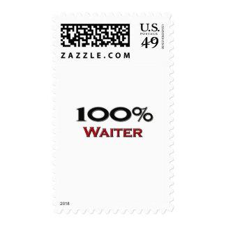 Camarero del 100 por ciento sellos