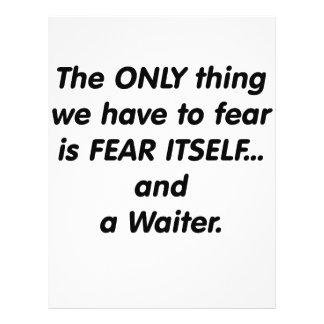 Camarero del miedo flyer a todo color