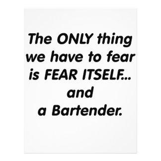 Camarero del miedo tarjeta publicitaria