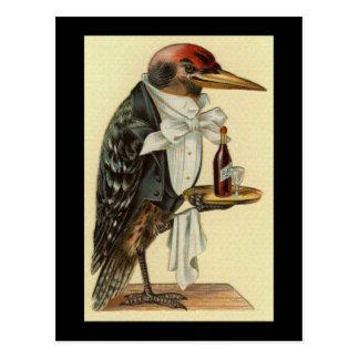 Camarero del pájaro postal