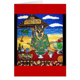 Camarero del pastor alemán tarjeta de felicitación
