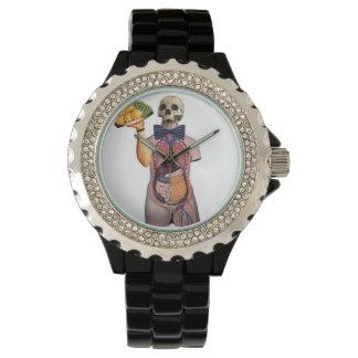 Camarero del zombi relojes de pulsera