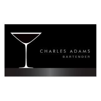 Camarero elegante moderno del vidrio de cóctel de  plantillas de tarjeta de negocio